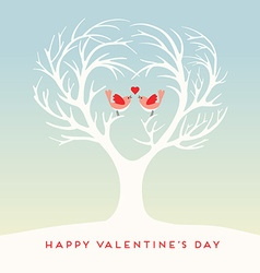 Happy Valentines Day lovebirds vector
