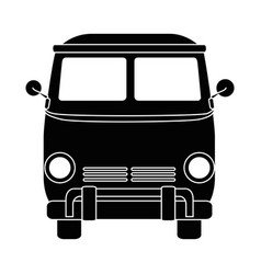 Hippie van icon vector