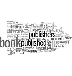how to get a book published helpful tips vector image