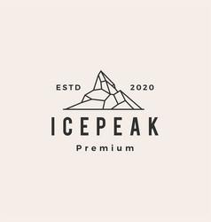 ice peak hipster vintage logo icon vector image