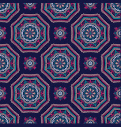 intricate mandala pattern tile background vector image