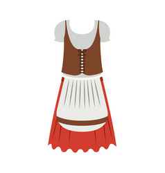 isolated oktoberfest icon of germany culture vector image