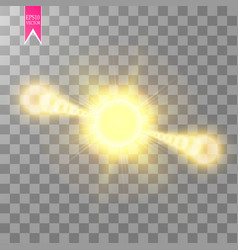 Lens flare effect isolated on transparent vector