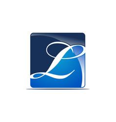 Letter l logo design template vector