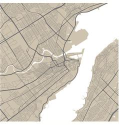 Map quebec street map art poster vector