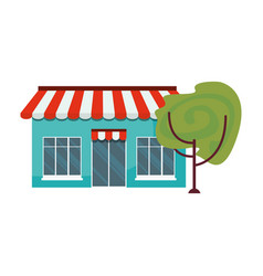market building with trees exterior vector image