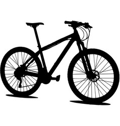 mtb mountain bike silhouette vector image