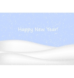 New Year background with snow vector image