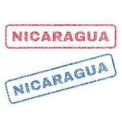 nicaragua textile stamps vector image