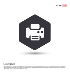 Office printer icon hexa white background icon vector