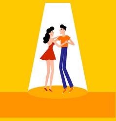 People dancing social couple dance vector