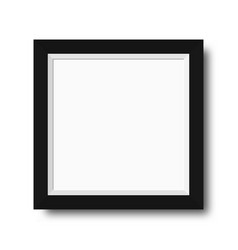 photo frame with black borders wooden photo frame vector image