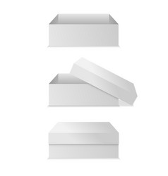 realistic square white box isolated on white vector image