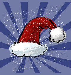 Red santa s hat with dark vector