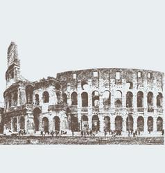 roman colosseum vector image