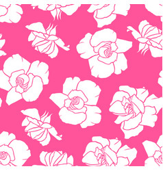 roses flowers pattern seamless vector image