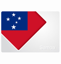 Samoan flag design background vector