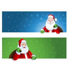 santa claus banner with place for text vector image