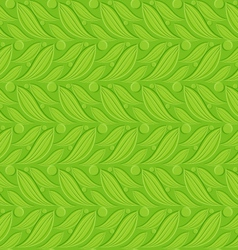 Seamless abstract background Green floral backdrop vector