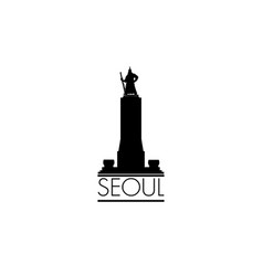 Seoul city symbol south republic of korea korean vector