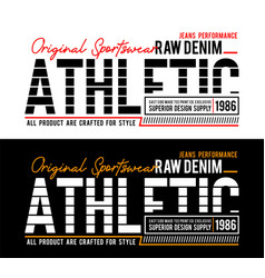 Set typography athletic sport slogan for t-shirt vector