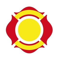 Shield firefighter emergency icon vector
