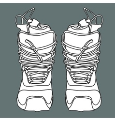 Snowboard boot front vector