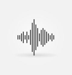 Sound wave thin line concept minimal icon vector