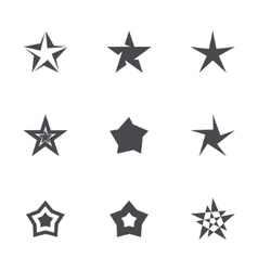 Stars icon collection vector image