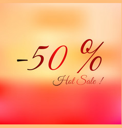 summer hot sale -50 bright vector image