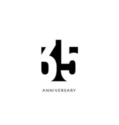 thirty five anniversary minimalistic logo thirty vector image