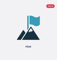 Two color peak icon from success concept isolated vector