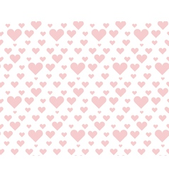 Valentine pale pink seamless polka dot pattern vector