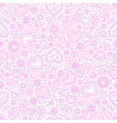 Valentines day watercolor hearts background vector image