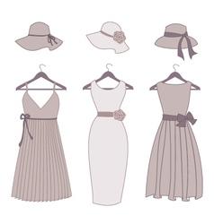 vintage fashion items vector image
