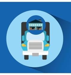 Warehouse building truck transport vector
