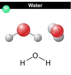 Water natural inorganic compound vector
