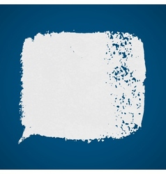 White grunge paint spot on blue background vector