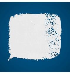 White grunge paint spot on blue background vector