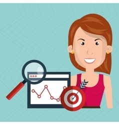 woman target page web search vector image
