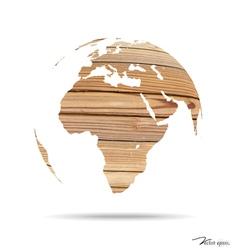 Wooden world vector image