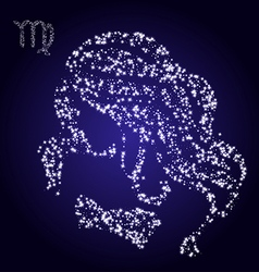 Zodiac sign of virgo made of stars vector image