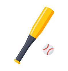 bat and ball for baseball vector image vector image