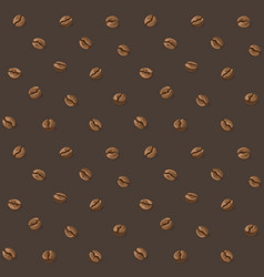 coffee beans pattern vector image