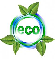 eco green icon vector image