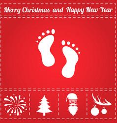 footprints icon vector image