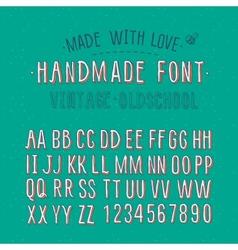Handmade retro alphabet vector