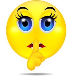 hush emoticon vector image