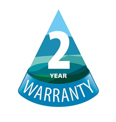 logo in the shape of a triangle 2 year warranty vector image