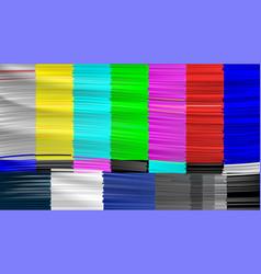 no signal tv descendant network no signal vector image
